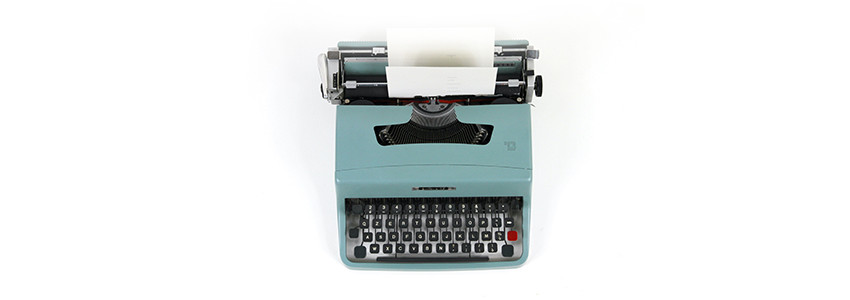 TheCalmBase | Presse | Schreibmaschine