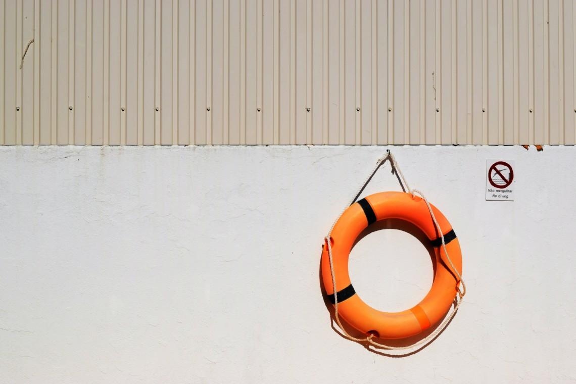 Wie ein Rettungsring kann ein Coach dich vor dem ertrinken bewahren.